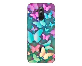 Husa Silicon Soft Upzz Print Huawei Mate 20 Lite Model Colorfull Butterflies
