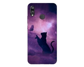Husa Silicon Soft Upzz Print Huawei P Smart Pro 2019 Model Shadow Cat
