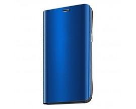 Husa Tip Carte Mirror Samsung Galaxy A51 Albastru Cu Folie Sticla Upzz Glass Inclusa In Pachet