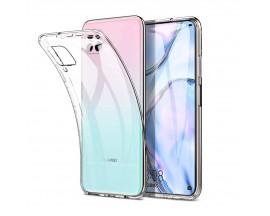Husa Slim Tech Protect Huawei P40 Lite Transparenta Slim Silicon