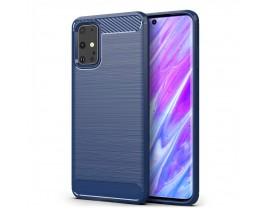 Husa Spate Carbon Pro Samsung Galaxy S20+ Plus ,Albastru Navy