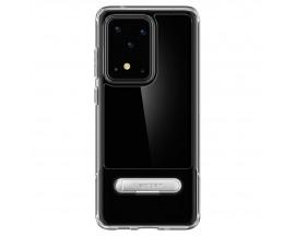 Husa Originala Spigen Slim Armor Essential S Samsung Galaxy S20 Ultra Crystal Clear Transparenta
