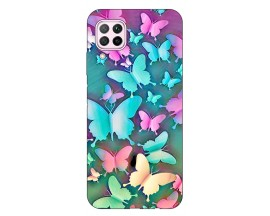 Husa Silicon Soft Upzz Print Huawei P40 Lite Model Colorfull Buterflyes