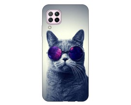 Husa Silicon Soft Upzz Print Huawei P40 Lite Model Cool Cat