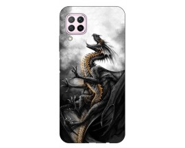 Husa Silicon Soft Upzz Print Huawei P40 Lite Model Dragon1
