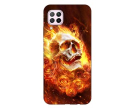 Husa Silicon Soft Upzz Print Huawei P40 Lite Model Flame Skull