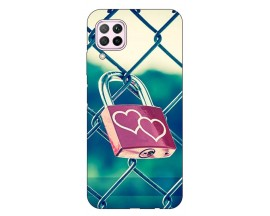 Husa Silicon Soft Upzz Print Huawei P40 Lite Model Heart Lock