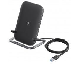 Suport Birou Cu Incarcare Wireless 15w ,baseus Rib Qi Negru- Wxpg-01