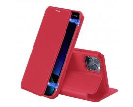Husa Premium Duxducis Skin X iPhone 11 Pro Rosu Flip Cover