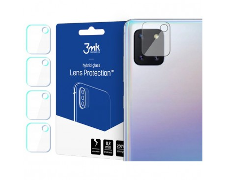 Set 4 Buc Folie Sticla Nano Glass Pentru Camera 3mk Samsung Galaxy Note 10 Lite Transparenta