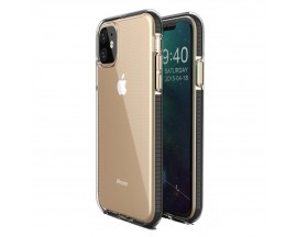 Husa Spate Upzz Spring iPhone 11 ,Silicon 1mm ,Rezistenta La Socuri ,Transparenta Cu Margine Neagra
