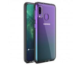 Husa Spate Upzz Spring Samsung Galaxy A20e ,Silicon 1mm ,Rezistenta La Socuri ,Transparenta Cu Margine Neagra