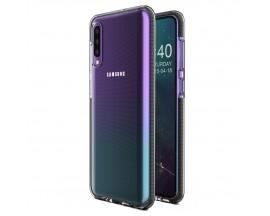 Husa Spate Upzz Spring Samsung Galaxy A50 ,Silicon 1mm ,Rezistenta La Socuri ,Transparenta Cu Margine Neagra