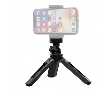 Mini trepied rotativ de 360 de grade pentru telefon, GoPro, Negru