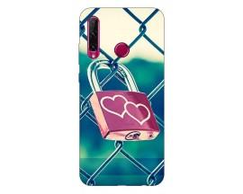 Husa Silicon Soft Upzz Print Huawei P40 Lite E Model Heart Lock