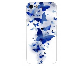 Husa Silicon Soft Upzz Print iPhone Se 2 ( 2020 ) ,model Blue Butterflies