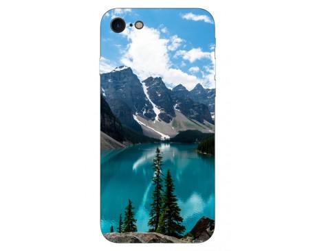 Husa Silicon Soft Upzz Print IPhone Se 2 ( 2020 ) ,Model Blue