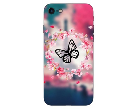 Husa Silicon Soft Upzz Print IPhone Se 2 ( 2020 ) ,Model Butterfly