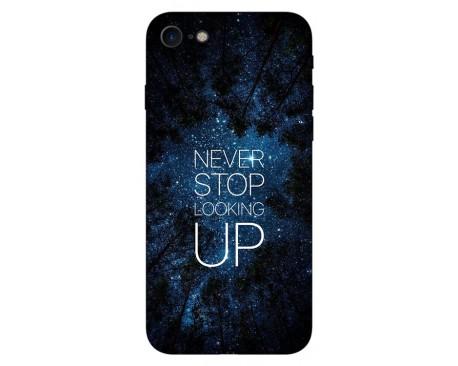 Husa Silicon Soft Upzz Print IPhone Se 2 ( 2020 ) ,Model Never Stop