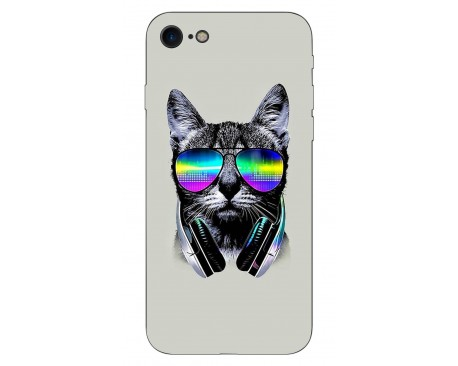 Husa Silicon Soft Upzz Print IPhone Se 2 ( 2020 ) ,Model Cat