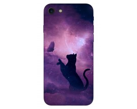 Husa Silicon Soft Upzz Print IPhone Se 2 ( 2020 ) ,Model Shadow Cat