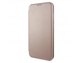 Husa Flip Carte Cu Magnet Lux Upzz Samsung Galaxy A10, Rose Gold