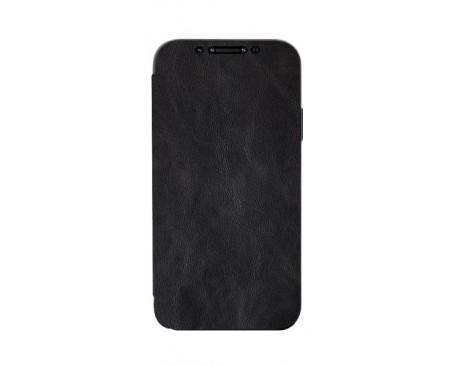 Husa Premium Flip Book Upzz Leather iPhone 11 Pro Max , Piele Ecologica, Negru