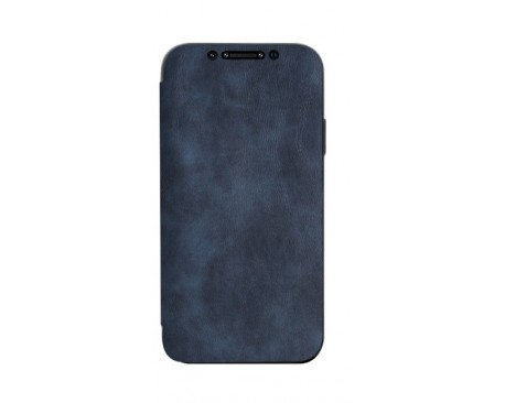 Husa Premium Flip Book Upzz Leather iPhone 11 Pro Max , Piele Ecologica, Albastru
