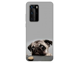 Husa Silicon Soft Upzz Print Huawei P40 Pro Model Dog