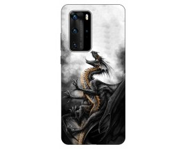 Husa Silicon Soft Upzz Print Huawei P40 Pro Model Dragon1