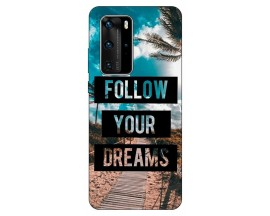 Husa Silicon Soft Upzz Print Huawei P40 Pro Model Dreams