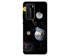 Husa Silicon Soft Upzz Print Huawei P40 Pro Model Earth