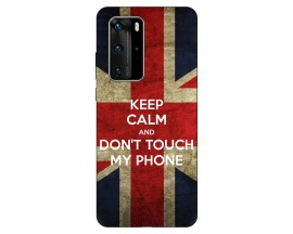 Husa Silicon Soft Upzz Print Huawei P40 Pro Model Keep Calm