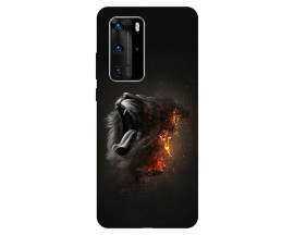 Husa Silicon Soft Upzz Print Huawei P40 Pro Model Lion
