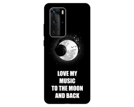 Husa Silicon Soft Upzz Print Huawei P40 Pro Model Music