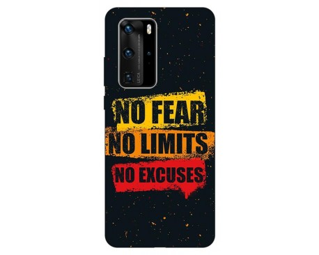 Husa Silicon Soft Upzz Print Huawei P40 Pro Model No Fear