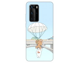 Husa Silicon Soft Upzz Print Huawei P40 Pro Model Three Bears