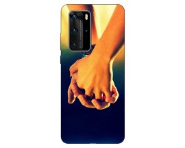 Husa Silicon Soft Upzz Print Huawei P40 Pro Model Together