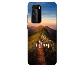 Husa Silicon Soft Upzz Print Huawei P40 Pro Model way