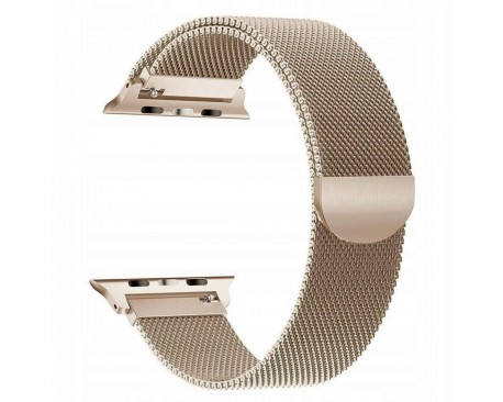 Curea Apple Watch, Tech Protect Milanese Loop, Compatibila cu Apple Watch 1/2/3/4/5 (38/40MM) ,Gold