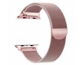 Curea Apple Watch, Tech Protect Milanese Loop, Compatibila cu Apple Watch 1/2/3/4/5 (42/44MM), Rose Gold