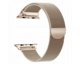 Curea Apple Watch, Tech Protect Milanese Loop, Compatibila cu Apple Watch 1/2/3/4/5 (42/44MM) Gold