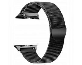 Curea Apple Watch, Tech Protect Milanese Loop, Compatibila cu Apple Watch 1/2/3/4/5 (38/40MM) ,Negru