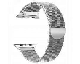 Curea Apple Watch, Tech Protect Milanese Loop, Compatibila cu Apple Watch 1/2/3/4/5 (38/40MM) ,Silver