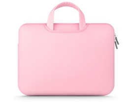 Husa Geanta Upzz Tech Protect Airbag Compatibila Cu Laptop 15 - 16 Inch ,roz