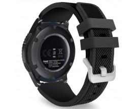 Curea Upzz Tech Protect Smoothband Compatibila Cu Samsung Galaxy Watch 46 mm ,Negru