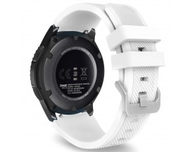 Curea Upzz Tech Protect Smoothband Compatibila Cu Samsung Galaxy Watch 46 mm ,Alb