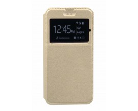 Husa Flip Tip Carte Mixon iPhone 5S 5SE Gold