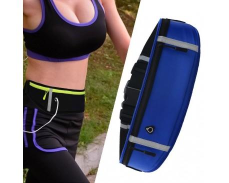 Borseta /Geanta Sport Upzz Ultimate Pentru Alergare cu Orificiu Pentru Casti, Reflectorizantă, Albastru
