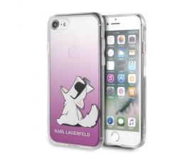 Husa Spate Premium Karl Lagerfeld iPhone Se 2 ( 2020 ), Choupette Fun, Transparenta - KLHCI8CFNRCPI